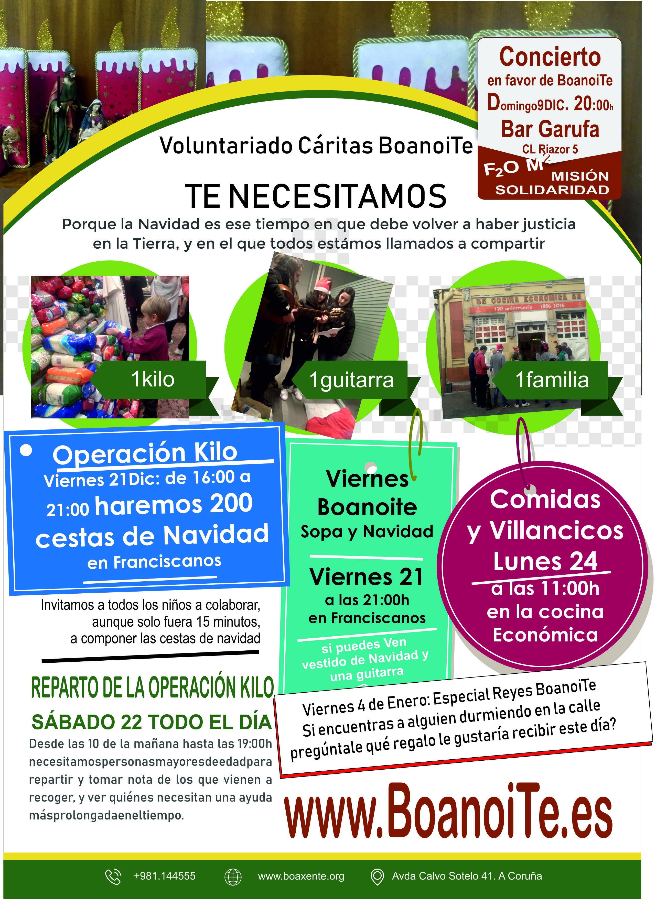 Hoja de información Navidad 2018 en Franciscanos Coruña