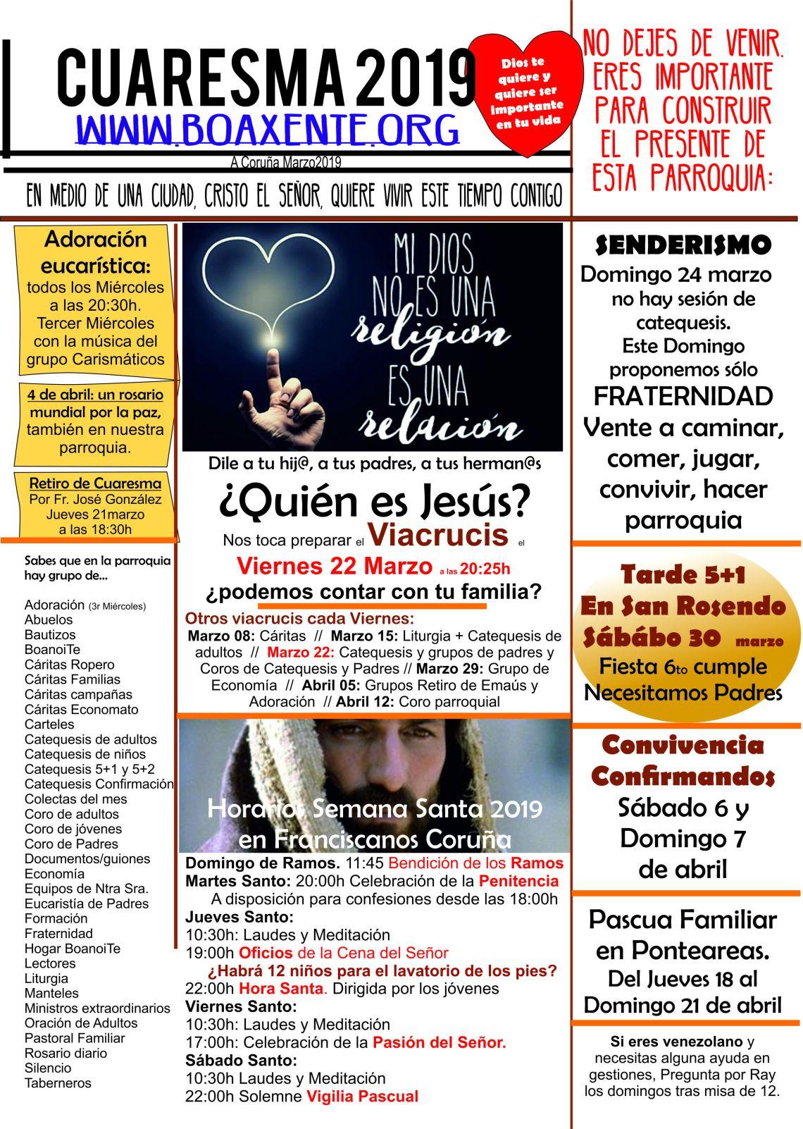 Comunicado201903marzoCuaresma